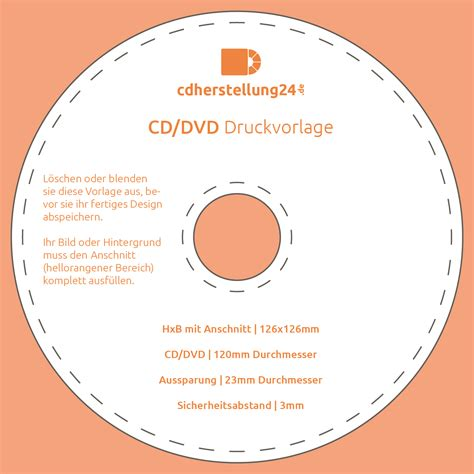 cd rohling bedrucken vorlage  vorlage