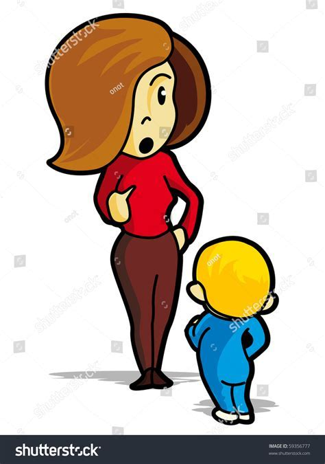 Cartoon Mother Child Vector Illustration Stock Vector