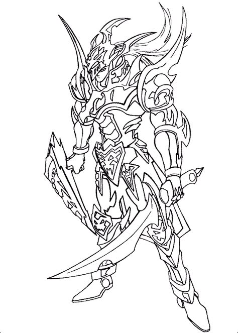 yu gi  black luster soldier coloring picture  kids