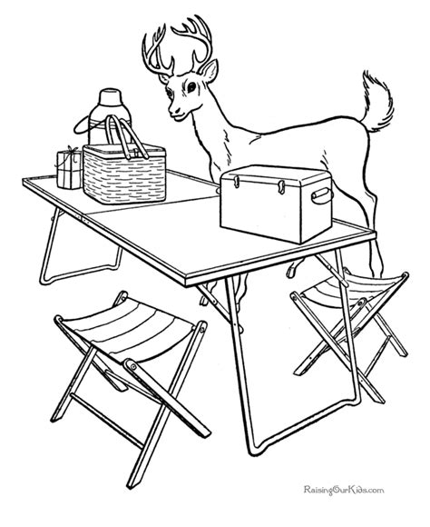 Free Camping Coloring Pages for Kids