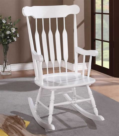 chicago furniture stores white wood rocking chair