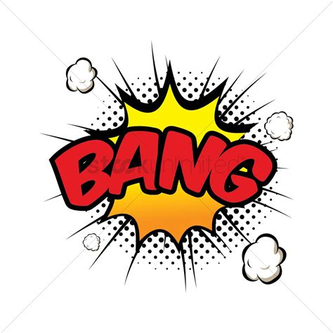 Bang Comic Wording Vector Image Stockunlimited