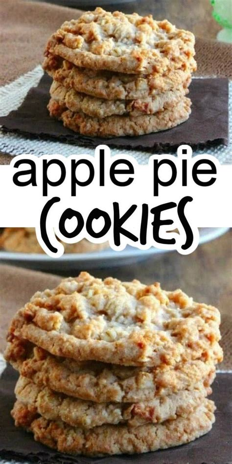 Nothing beats a homemade pie, and this dessert is ideal not only during fall, but all year round too. Easy Apple Pie Cookies in 2020   Apple dessert recipes, Apple pie cookie recipe, Apple pie cookies