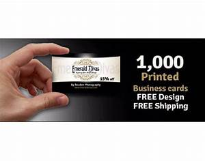 1000 business cards free design free shipping printed on for Business card free shipping