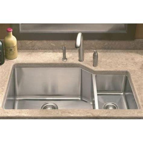 lada ldr undermount   offset double bowl kitchen