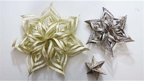 basteln 3d weihnachtsdeko 3d weihnachtssterne basteln