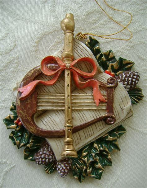 ornaments musical christmas instrument themed ornaments