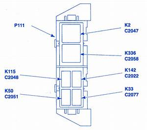 Ford Ranger Super Cab 2004 Auxiliary Fuse Box  Block Circuit Breaker Diagram  U00bb Carfusebox