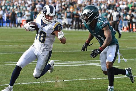 rookie cooper kupp  rams leading wr