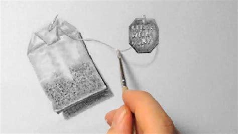 teebeutel zeichnen im zeitraffer tea bag drawing