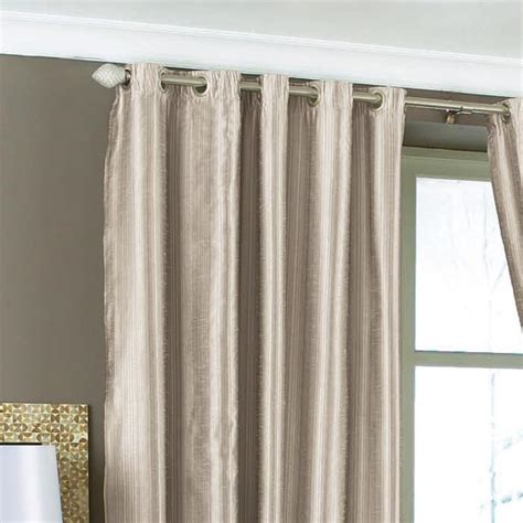 luxor faux silk eyelet lined curtains silver 90 x 108 inch