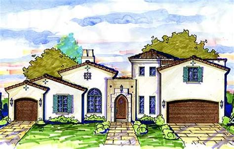 spanish courtyard home plan mj architectural designs house plans