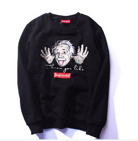 supreme clothes supreme sweatshirts casual hoodies brand clothing couples