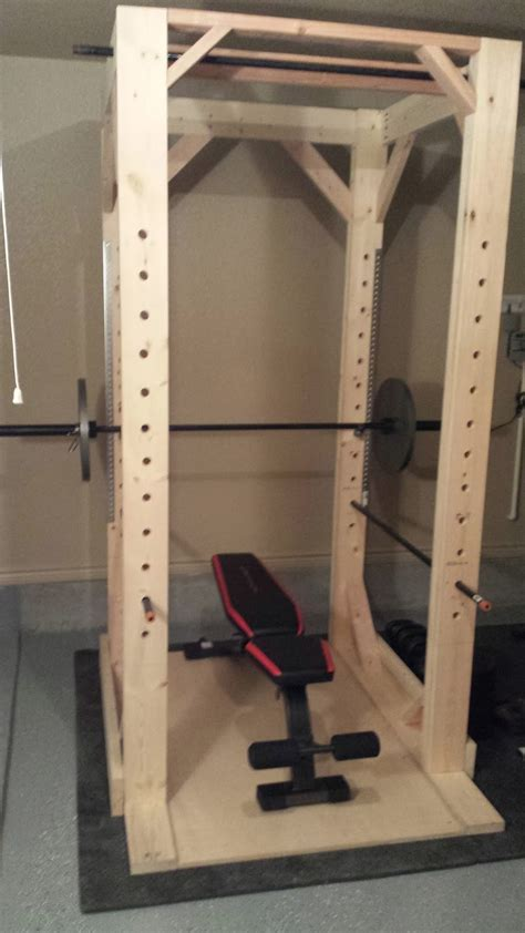 build a rack diy woodworking easy to build diy power rack squat rack