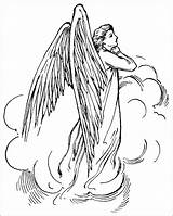 Angel Coloring Guardian Drawings 875px 28kb sketch template