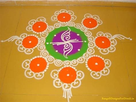 indian festive season  simple  hand rangoli