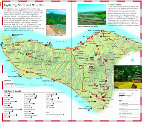 bali tourist map  travel information