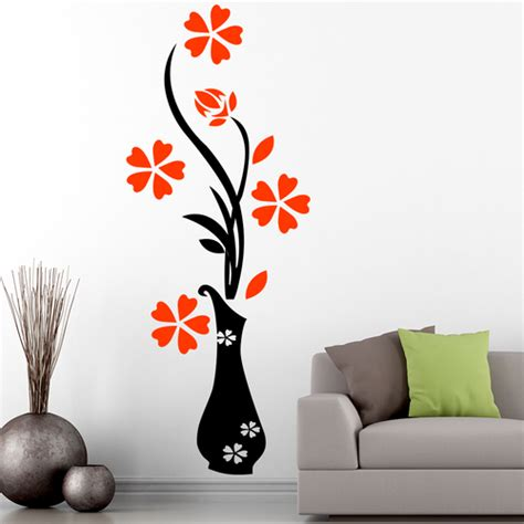 printed floral wall sticker rs  square feet walls