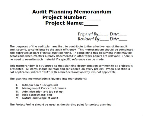Audit Scope Template by 15 Audit Memo Templates Free Sle Exle Format