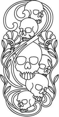 Skulls Nouveau_image | Skull coloring pages, Tooling