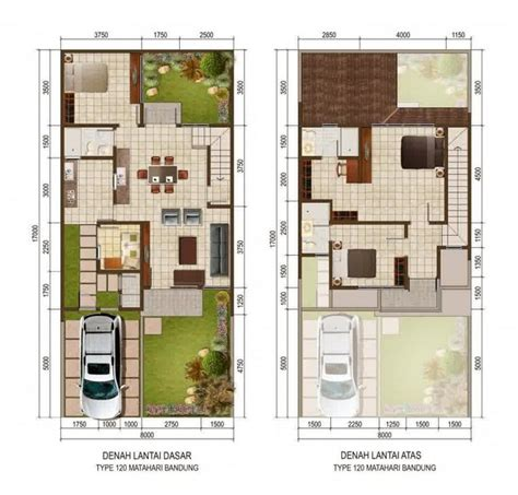 kumpulan denah rumah minimalis type  terbaru