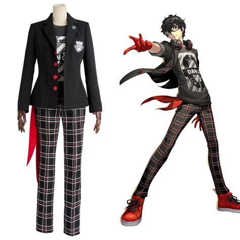 Persona 5 Protagonist Dancing Star Night Outfit Cosplay Costume - Skycostume