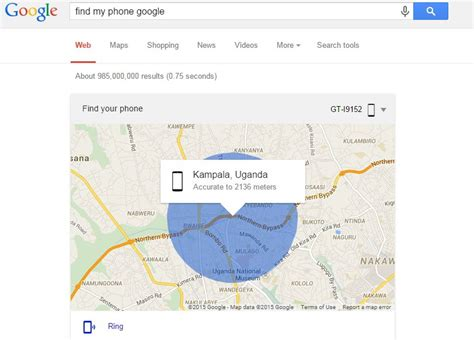 find my phone just type find my phone in to locate your lost