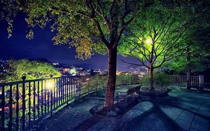 Nature Park Wallpapers Amazing Landscape Night Views