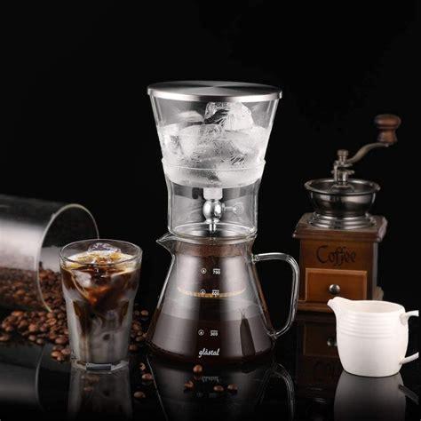 Cold brew coffee vs iced coffee: Glastal Cold Drip Coffee Machine 600ml Cold Brew Dripper Coffee Maker Adjustable Ice Drip Glass ...