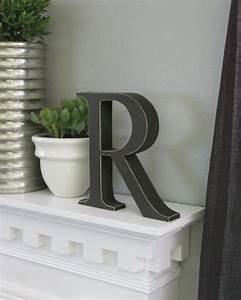 free standing distressed wooden letters alphabet decor With free standing decorative alphabet letters