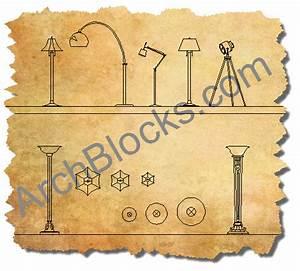 Archblock floor lamps lighting cad block symbols for Floor lamp cad block