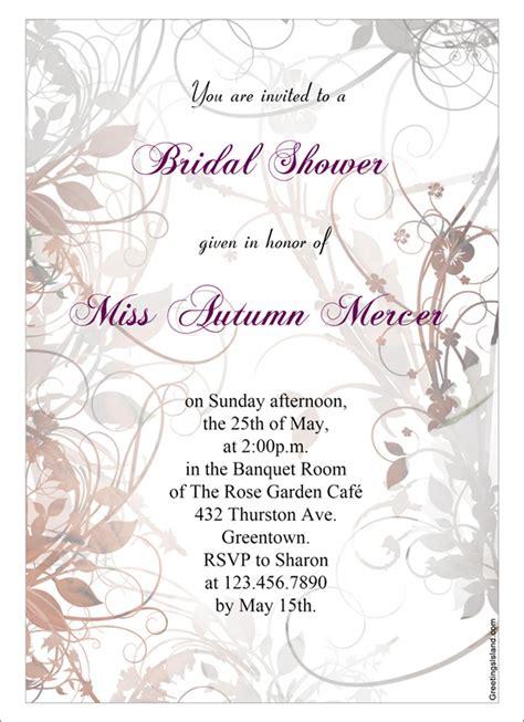 Free Printable Bridal Shower Invitations - 22 free bridal shower printable invitations all free