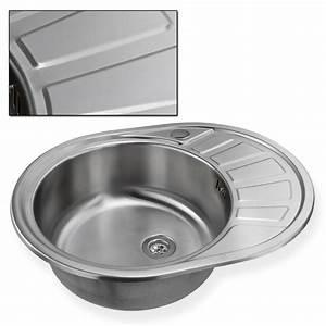 Edelstahl waschbecken spule links einbauspule spulbecken for Küchenspüle rund