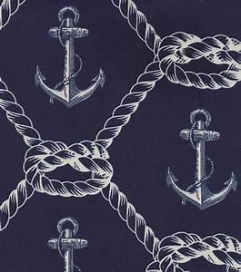 Nautical Fabric- Anchors Rope Home Decor Jo-Ann