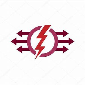 Logo Electricity Power Icon Design Symbol Abstract  U2014 Stock