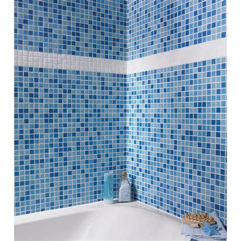mosaique salle de bain bleu turquoise