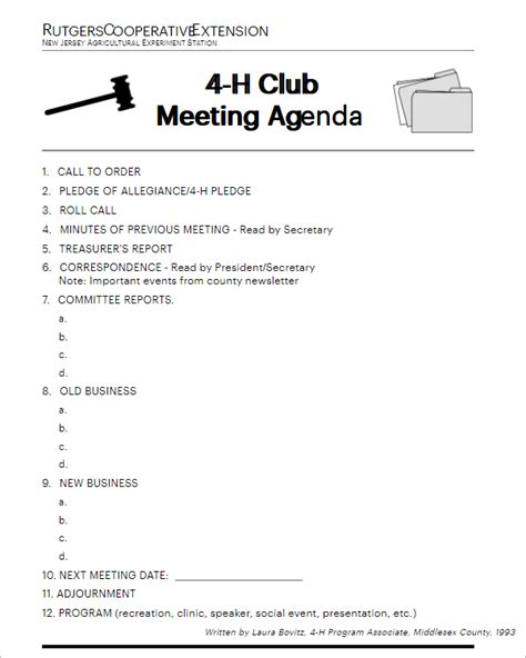club meeting agenda templates excel word formats