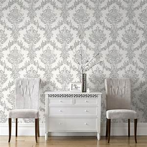 graham brown 101468 boutique opal damask white With best brand of paint for kitchen cabinets with graham and brown wall art sale