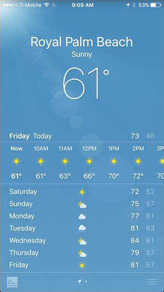 iphone weather app how to make the iphone weather app update on a mobile