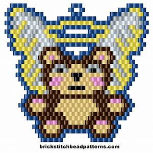 Brick Stitch Bead Patterns Journal  Angel Christmas Teddy