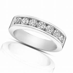 125 ct round cut diamond wedding band ring in channel setting With channel wedding ring