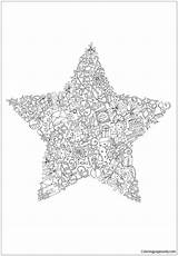 Christmas Star Pages Coloring Print Coloringpagesonly sketch template