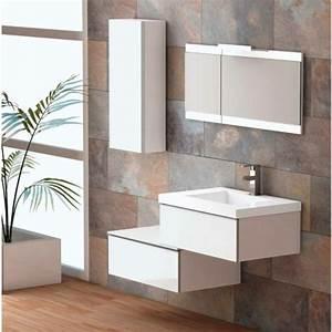Meuble Salle De Bain Suspendu : petit meuble salle de bain a suspendre maison parallele ~ Melissatoandfro.com Idées de Décoration