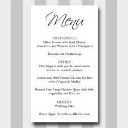 formal wedding program wording menu card diy printable template modern traditional