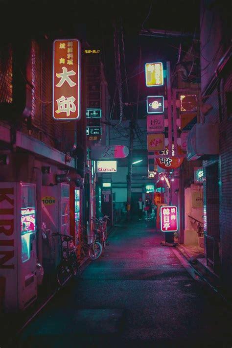 cyberpunk city city wallpaper aesthetic japan