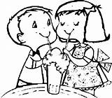 Coloring Sharing Soda Ice Cream Friends sketch template