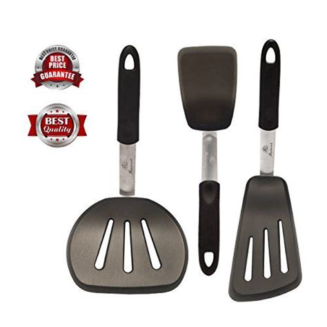 cooking utensils slotted turner flexible resistant silicone heat