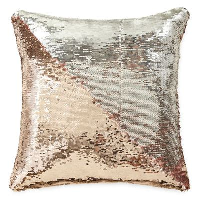 jcpenney decorative pillows jcpenney home mermaid square sequins decorative pillow