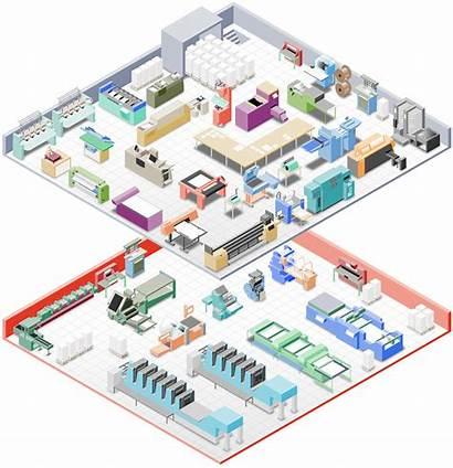 Printing Floor Plant Equipment Renz Digital Litho