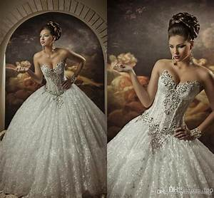 2015 elegant beading wedding dresses bling sweetheart With princess ball gown wedding dresses with bling